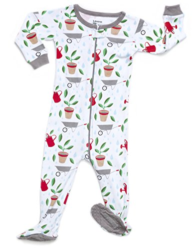 Leveret Organic Cotton Garden Footed Pajama Sleeper 0-3 Months