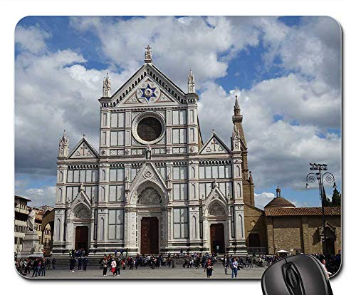Mouse Pads - Florence Santa Croce Church Italy Architecture