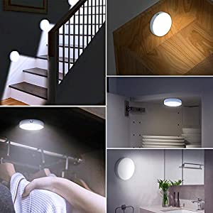 Dimmable Touch Light | WILLED Buit-in 1000mAh Large Battery Rechargeable LED Tap Lights | Magnet Stick on Closet Light…