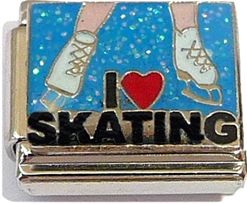 (I Love Ice Skating Italian Charm )