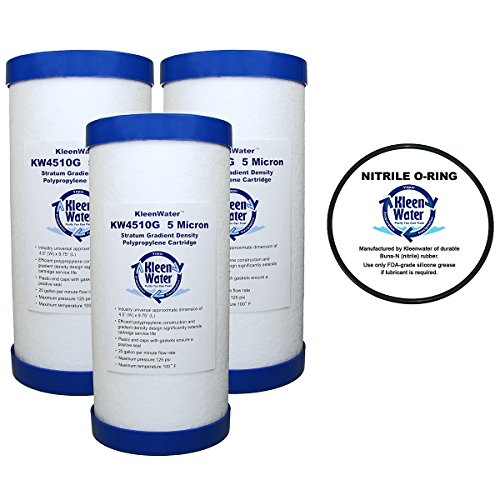- Culligan HD-950A Compatible Water Filter, KleenWater KW4510G Dirt Rust Sediment Replacement Filter Cartridge, Set of 3, OR-100 Compatible O-Ring