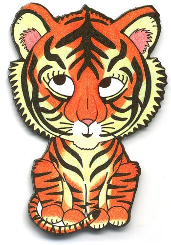 6-Pack Paper House Productions M-0331E Die Cut Refrigerator Magnet AMNH-Baby Tiger
