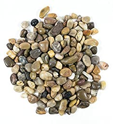 Gravel,Govine Polished Gravel Decorative Gravel Mixed, 5 Pounds