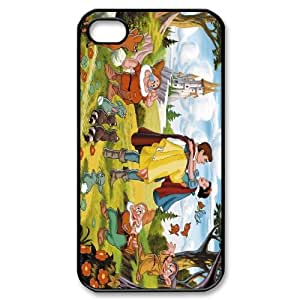 FOR Iphone 4 4S case cover -(DXJ PHONE CASE)-Snow White Holding Apple-PATTERN 3