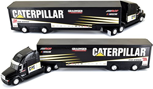 Diecast Tractor Trailer Trucks - 2017 Edition Ryan Newman Caterpillar 1/64 Scale Hauler Trailer Tractor Semi Rig Transporter Truck Diecast NASCAR Authentics
