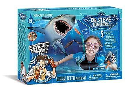 HQ Windspiration Geoworld ED510K - Dr. Steve Hunters Shark Teeth Kit Haizähne, 5 Fossilien von Haizähnen, Alter: 6+