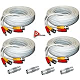 ACELEVEL 4 PACK PREMIUM 100Ft.THICK BNC EXTENSION CABLES FOR Q-SEE SYSTEMS WHITE
