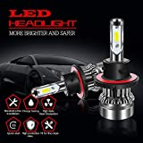 QUAKEWORLD 6500K 6000LM H13 9008 Led Headlight Bulbs High/Low Beam SEOUL Chips Conversion Kit HID or Halogen Headlight Replacement for Ford F150 F250 F350 Jeep Wrangler JK Dodge Ram 1500 3500 RZR