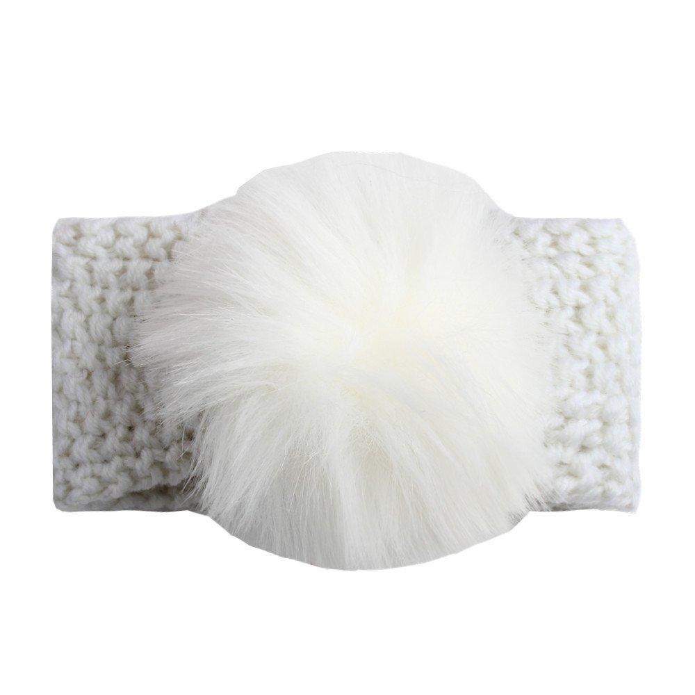 Tukistore Neonata Fascia per capelli Inverno caldo lavorato a maglia Fascia per capelli Fascia per capelli in turbante Fascia per orecchio Paraorecchie per muffin per neonato