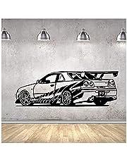Muursticker/muurstickers, vinyl, decoratief, voor auto, Corsa Fast And The Furious Sport Car Racing