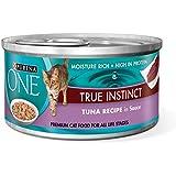 Purina ONE True Instinct Tuna Recipe in Sauce Wet Cat Food - Twenty-Four (24) 3 oz. Pull-Top Cans