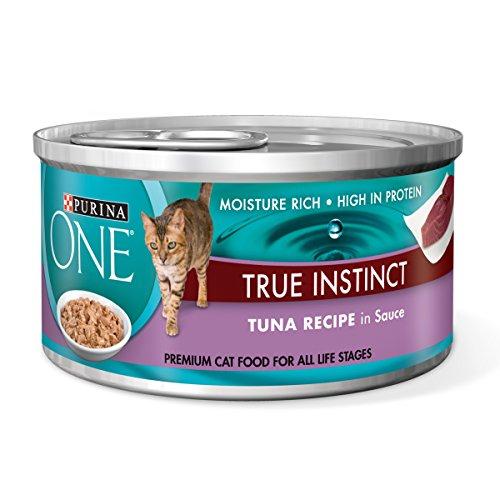 Formula 24/3 Oz Cans - Purina ONE True Instinct Tuna Recipe in Sauce Wet Cat Food - Twenty-Four (24) 3 oz. Pull-Top Cans