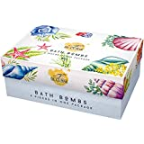 Bath Bomb Set- 6 Pack of Lush Bath Fizzies with Natural Ingredients - Great Gift Idea For Mom, Women, Grandma - Made with Essential Oils, Sea Salts & Shea Butter Best Birthday, and Anniversary Present