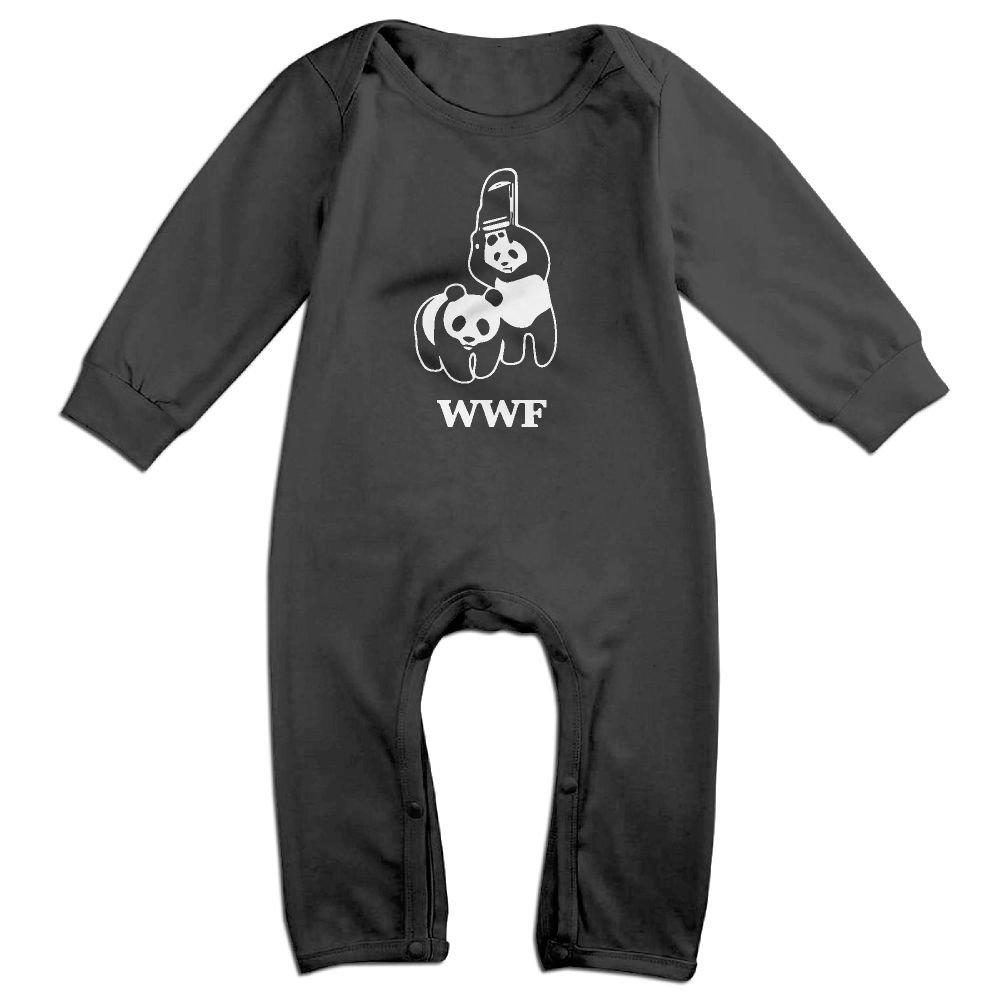 LOSPAMA WWF Panda Bear Wrestling Long Sleeves Romper Bodysuit Onesies Clothes for 0-24m Newborn Baby Toddler