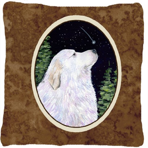 UPC 615872504947, Caroline's Treasures SS8470PW1414 Starry Night Great Pyrenees Fabric Pillow, Large, Multicolor