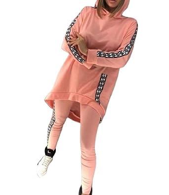 Sankt Leisure - Chándal con Capucha para Mujer, diseño Floral Rosa ...