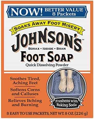 Johnsons Foot Soap Powder, 8 each