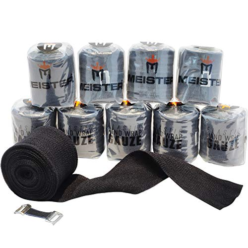 Meister Elastic Gauze Hand Wraps for Boxing & MMA – Mexican Style – White – 10 Pack