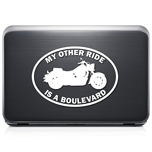 My Other Ride Suzuki Boulevard Motorcycle Motorbike REMOVABLE Vinyl Decal Sticker For Laptop Tablet Helmet Windows Wall Decor Car Truck Motorcycle - Size (12 Inch / 30 Cm Wide) - Color (Matte Black)