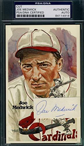 JOE MEDWICK PSA DNA Coa Autograph Perez Steele Cut Hand Signed Authentic