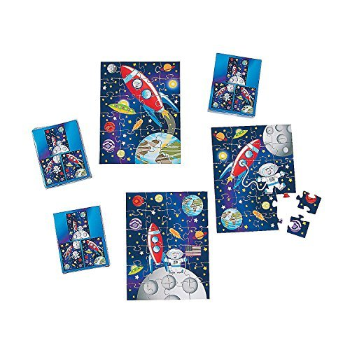(Fun Express Space Puzzles Party Favor Set - 12 Pack)