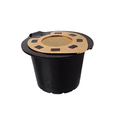 OUNONA Cápsula recargable del filtro del café del acero inoxidable de la cápsula de Nespresso para