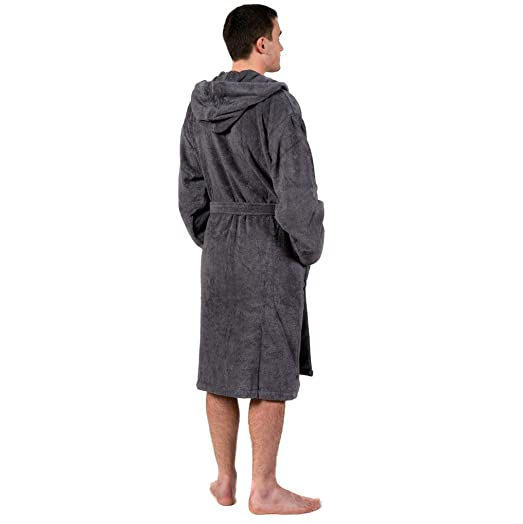 TowelsRus 100% Egyptian Cotton Hooded Unisex Dressing Gown Thick ...