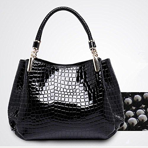 Aoligei Crocodile de mode de la femme modèle femme sac sac à main sac à bandoulière unique B