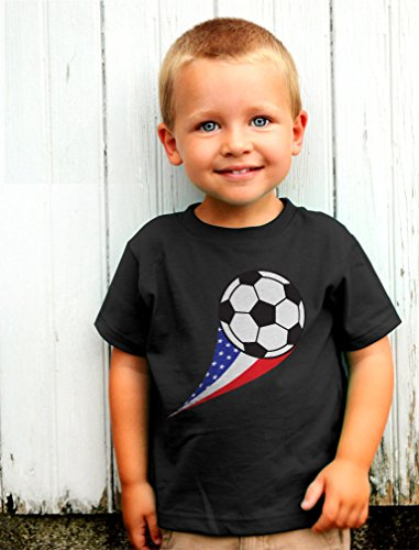 TeeStars USA Team Soccer Ball American Flag Cute Toddler/Infant Kids T-Shirt