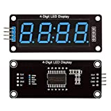 5 Packs Red/Green/White/Yellow/Blue Colors TM1637 0.56'' LED Display 7-Segment 4-Digit Clock Module Digital Tube Serial Driver Board for Arduino DIY Kits (Blue)