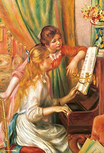 (Japan Official Jigsaw Puzzle - Girls at the Piano (Jeunes filles au piano) 300 pcs Pieces Classic Painting by Pierre Auguste Renoir French Impressionist Oil Canvas Decor Beverly)