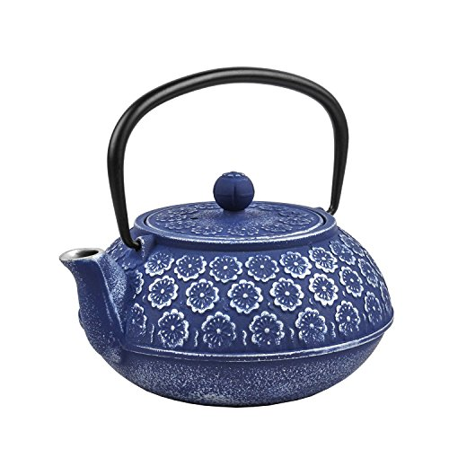 cast iron blue teapot - 9
