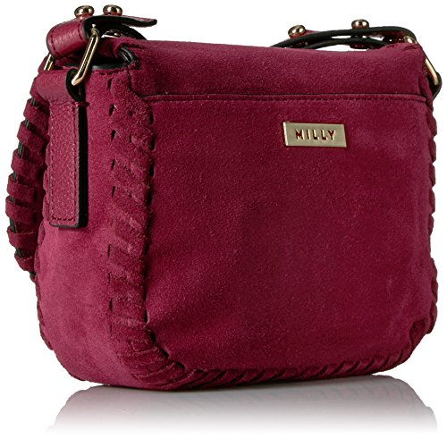 Burgundy Astor Small Whipstitch Saddle MILLY Suede XUSCdwXqx