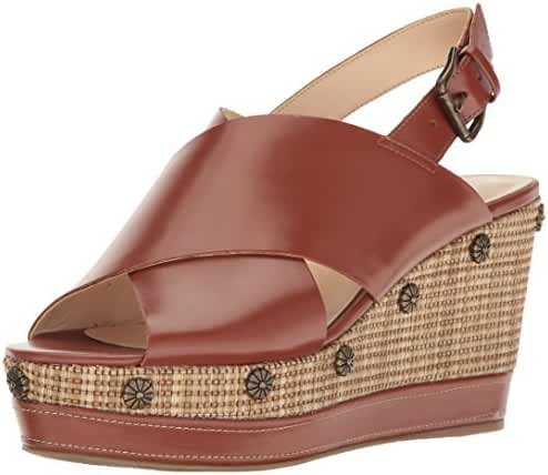 Nine West Women's Vanessa Leather Wedge Sandal