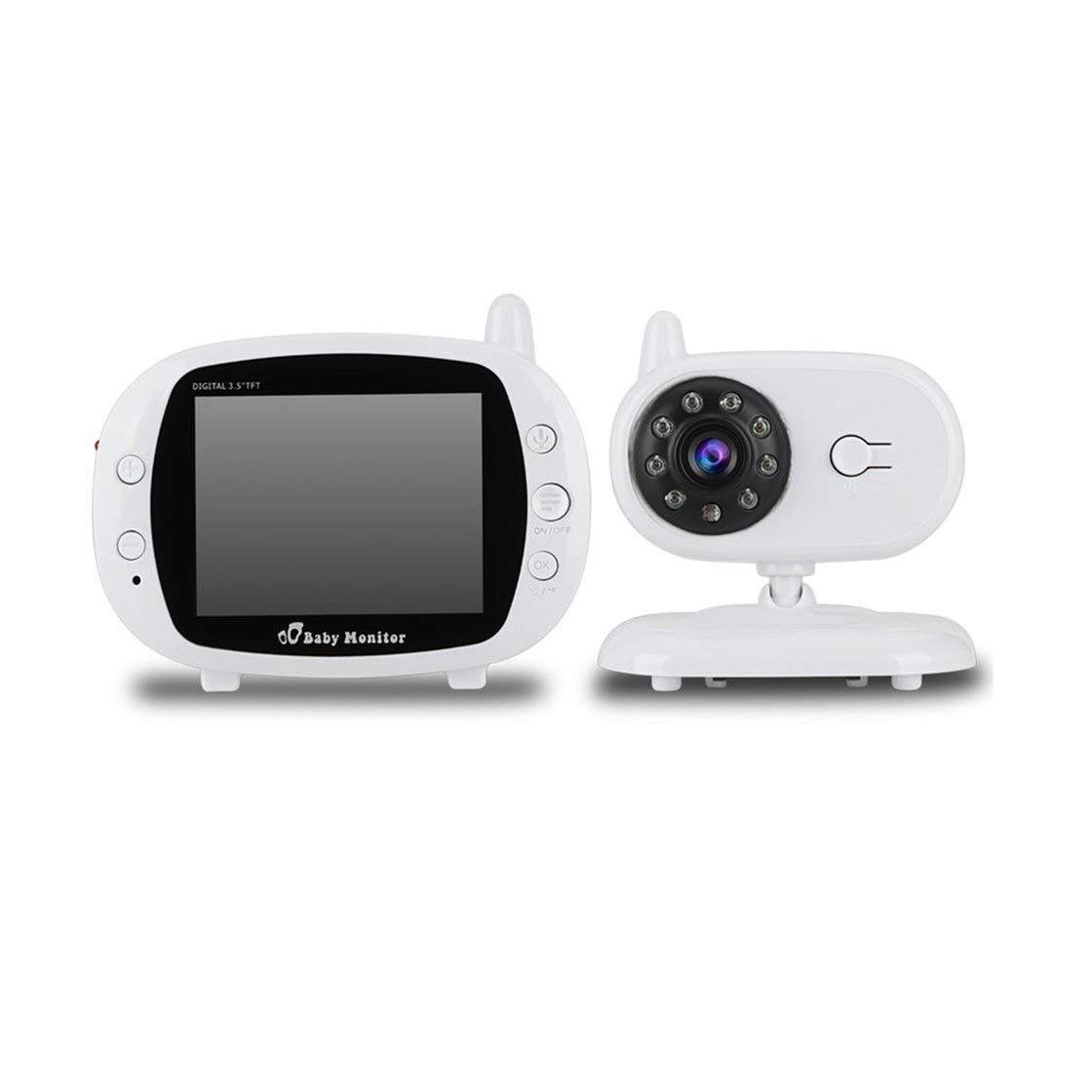 Gwendoll Ecran 3.5 Pouces LCD 2.4G Vidéo numérique sans Fil Contrôle Vocal Vision Nocturne Caméra de sécurité Visionneuse 2-Voies Talk Baby Monitor