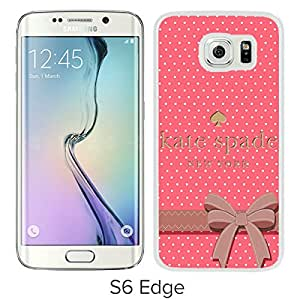 Unique And Beautiful Designed Kate Spade Cover Case For Samsung Galaxy S6 Edge White Phone Case 192