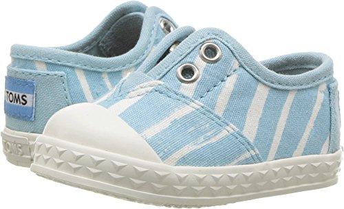 TOMS Kids Unisex Zuma Sneaker (Infant/Toddler/Little Kid) Pale Blue Painted Stripe Oxford Boys Stripe Oxford