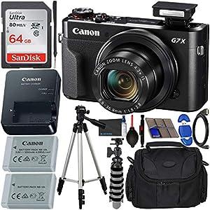 Flashandfocus.com 51FuJKyRqbL._SS300_ Canon PowerShot G7 X Mark II Digital Camera (Black) with Accessory Bundle - Includes: SanDisk Ultra 64GB SDXC Memory…