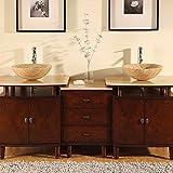 Antique Bathroom Vanity Double Sink LUX-H-833-74 : W73″ x D22″ x H37″ For Sale