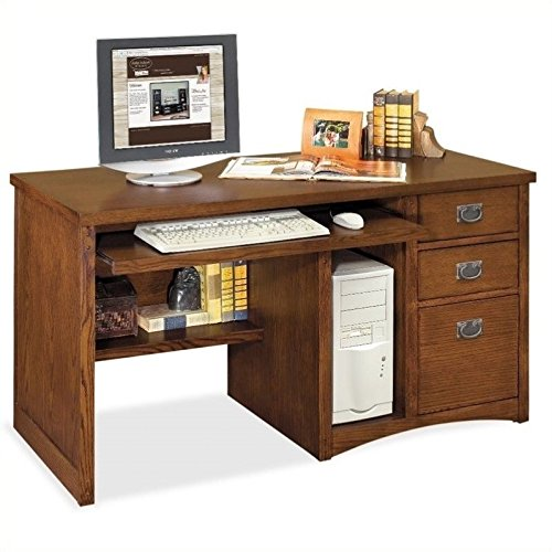 Hand Single Pedestal Desk - Martin Furniture Mission Pasadena Single Pedestal Computer Desk