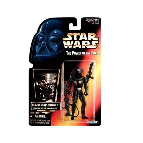 Star Wars The Power of the Force Death Star Gunner with Imperial Blaster and Assault Rifle (Green Holo (Imperial Blaster Rifle)