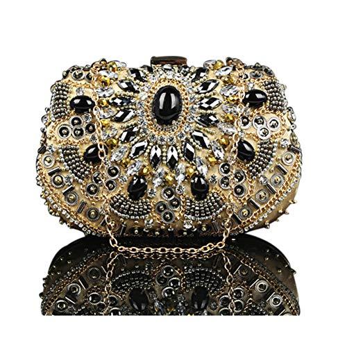 lusso argento di perline Retro di oro Xrkz Evening Studs perline Bag Style lusso di lusso OHCTwXqwB