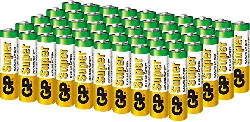 100 GP Super AA LR6 1.5V Alkaline Batteries Pack Bulk