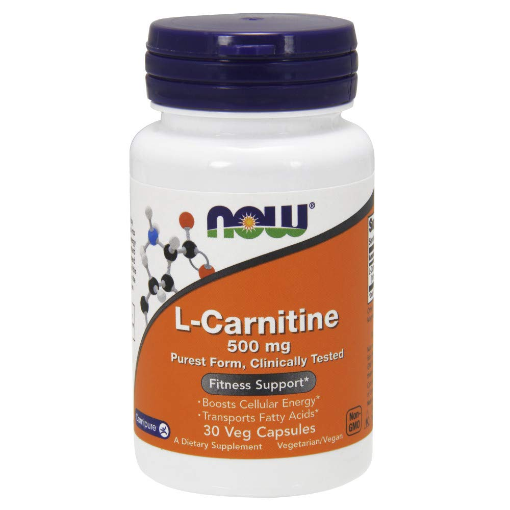 Now Supplements, L-Carnitine 500mg, Amino Acid, 30 Veg Capsules