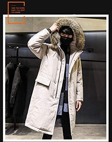555 Men\'s Down JGcket//Long Thick Hooded Big CollGr in Winter//WGrm JGcket Tide//WeGk Pink//S
