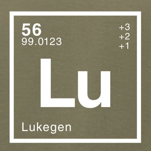 Luke Periodensystem - Herren T-Shirt - Khaki - XXL