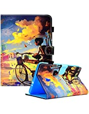 Case for Samsung Galaxy Tab A 8.0 2017,Slim Leather Stand Tablet Protective Case for Galaxy Tab A 8.0 2017 T380 / T385,MOIKY Premium PU Case with Stylus Holder Magnetic Smart Wallet Cover,Bike Boy