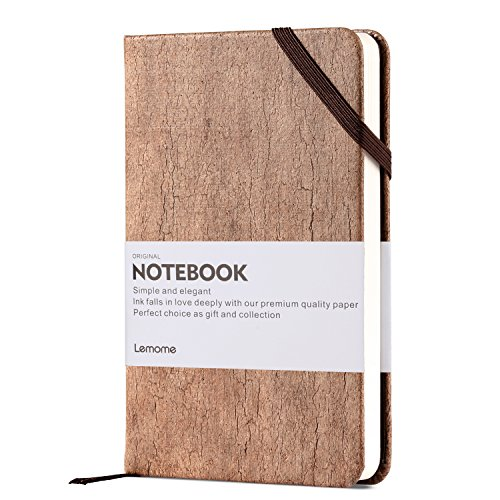 Small Writing Notebook / Sketchbook for Artist - Lemome Premium Paper Blank Journal, Made from Eco Friendly Cork Pocket Diary, Mothers Day Gifts, Hard Cover, 3.5 x 5.5 Inch