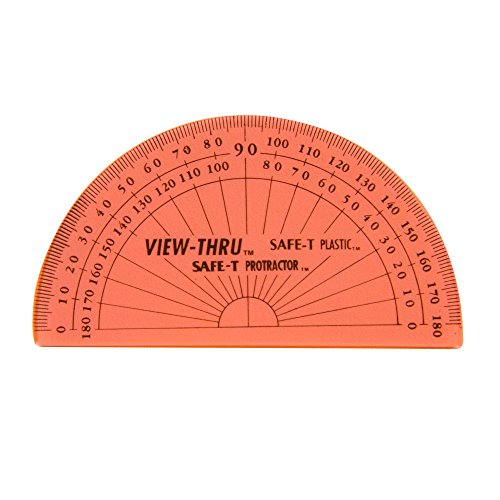 4in 1 Safe T Ruler (ETA hand2mind Student Math SAFE-T Protractors, Set of 24)