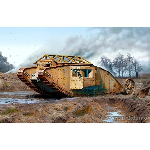Master Box British Male MK 1 Tank Somme Battle 1916 Military Land Vehicle Model Building Kit (1:72 Scale)